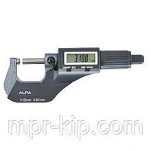 """Мікрометр цифровий ALPA Exacto 0-25mm / 0-1""""0.001. Італія"""