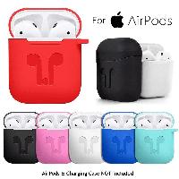 Чехол Silicone Case for AirPods с карабином | 10 цветов