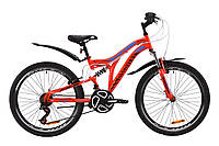 """Велосипед ST 24"""" Discovery ROCKET AM2 Vbr с крылом Pl 2020 (красно-черный с синим)"""