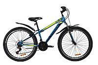 """Велосипед ST 26"""" Discovery TREK AM Vbr с крылом Pl 2020 (малахитовый с желтым (м))"""