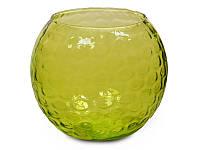 """Ваза круглая """"Зеленый"""" 16 см"""