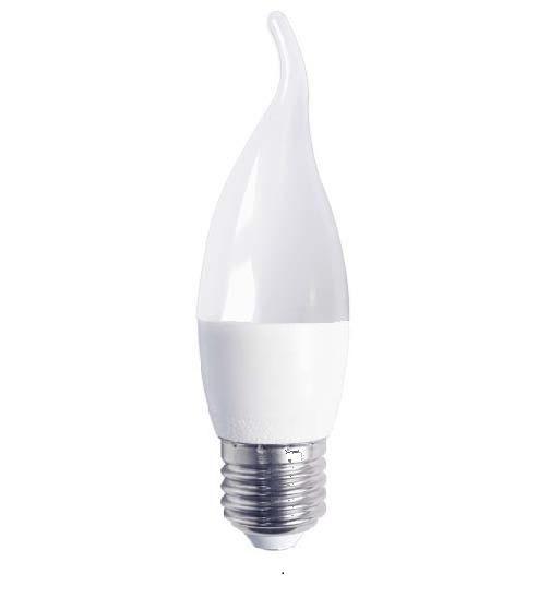 Светодиодная лампа Feron LB-737 CF37 E27 230V 6W 500Lm 2700K свеча на ветру