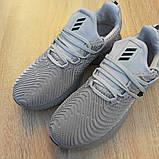 Мужские Кросcовки Adidas Alphabounce Instinct зелёные серые, фото 3
