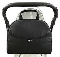Сумка органайзер Z&D для коляски черная с крючками на коляску Zdrowe Dziecko Польша для мамы принадлежностей о