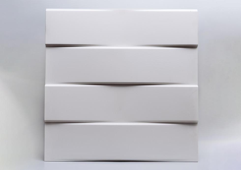 """Гіпсові панелі 3D """"Parallel"""" Білий 500*500*25 мм"""