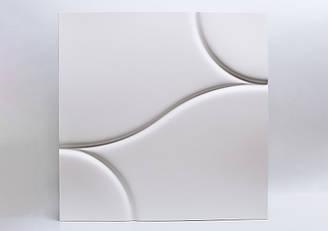 """Гипсовые 3D панели """"Calipso"""" White 500*500*25 мм"""