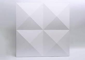 """Гипсовые 3D панели """"Гиза"""" Белый 500*500*25 мм"""