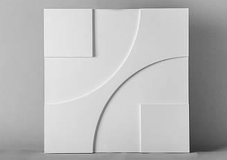 """Гипсовые 3D панели """"Техно"""" Белый 500*500*25 мм"""