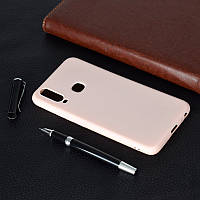 Чехол Soft Touch для Vivo Y15 силикон бампер светло-розовый