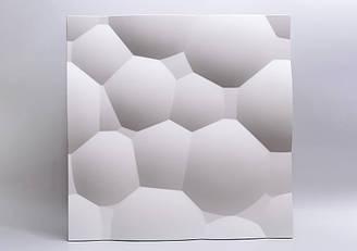 """Гипсовые 3D панели """"Пузыри"""" Белый 500*500*25 мм"""