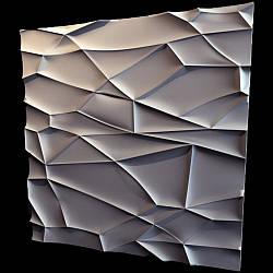 """Гипсовые 3D панели """"Рок"""" Белый 500*500*25 мм"""