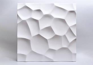 """Гипсовые 3D панели """"Ракушки"""" Белый 500*500*25 мм"""