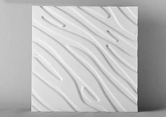 """Гипсовые 3D панели """"Марибель"""" Белый 500*500*25 мм"""