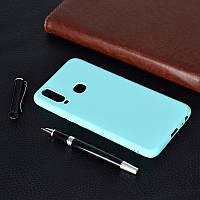 Чехол Soft Touch для Vivo Y15 силикон бампер мятно-голубой