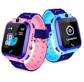 Хит Детские смарт-часы Q12 с GPS Водонепроницаемые синие