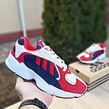Чоловічі Кросівки Adidas Yung червоні з синім, фото 3
