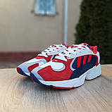 Чоловічі Кросівки Adidas Yung червоні з синім, фото 5