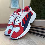 Чоловічі Кросівки Adidas Yung червоні з синім, фото 7