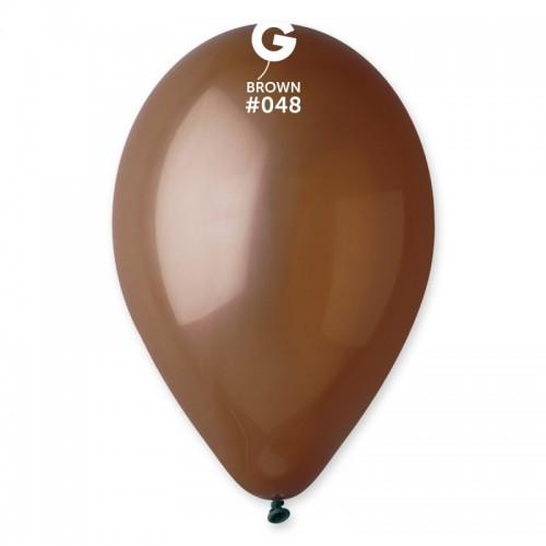 """Латексна кулька пастель Коричневий 10"""" / 48 / 26  Brown"""