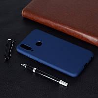 Чехол Soft Touch для Vivo Y17 силикон бампер темно-синий