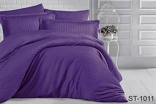 Страйп-сатин двухспальный комплект фиолетовое ТМ TAG