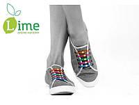 Силиконовые шнурки светящиеся, Hilaces 6 шт