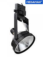 Трековый 3-фазный алюминиевый светильник Megatron Toby для ламп ES111 с цоколем GU10 черный