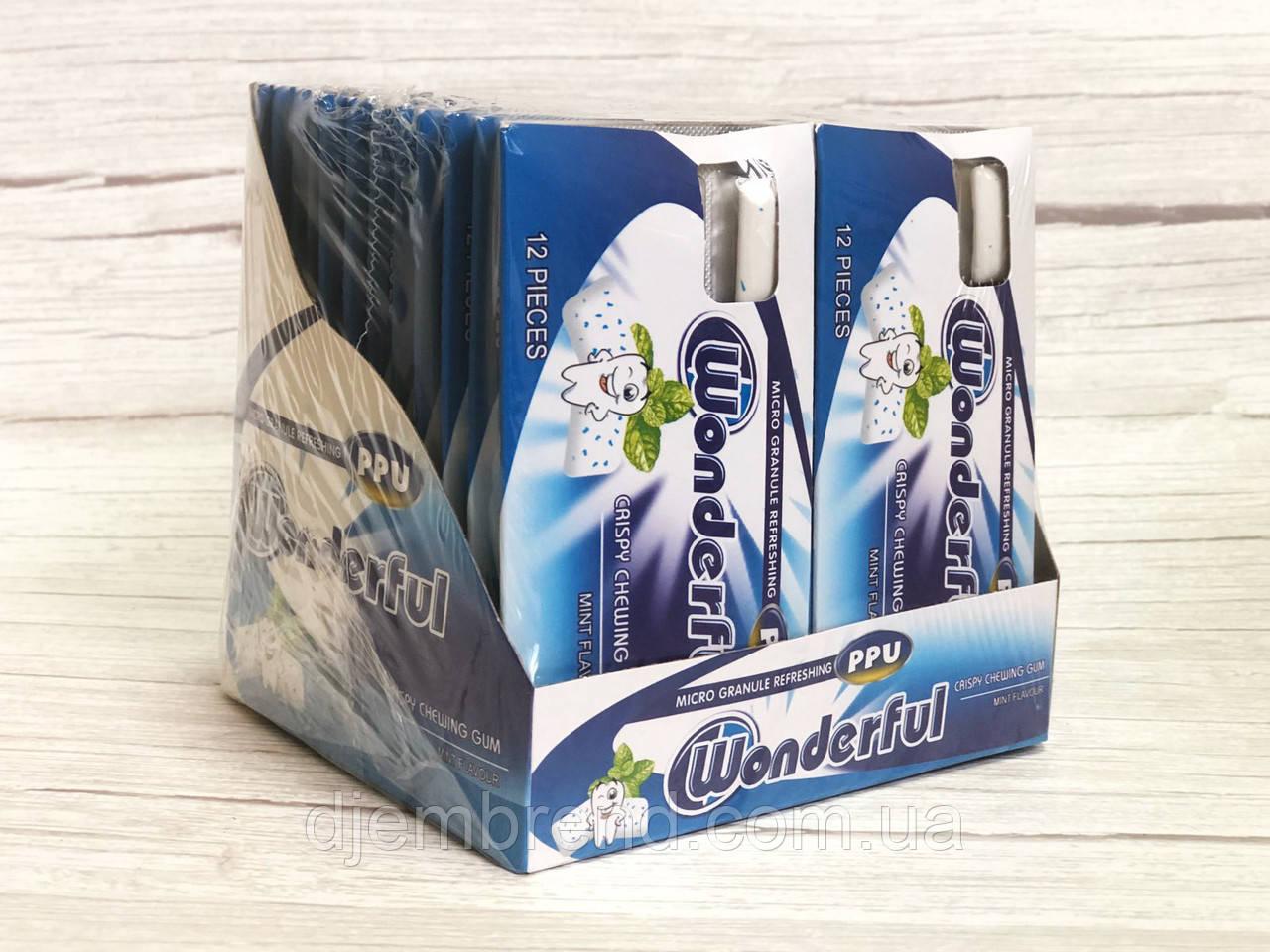 Жевательная резинка Wonderful 12 подушечек 24 блистера Турция