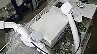 Белый сифон для ванны автомат HC31M-WH MCALPINE  с белым сливом и переливом