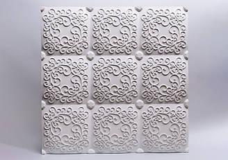 """Гипсовые 3D панели """"Беллучи"""" Белый 500*500*25 мм"""
