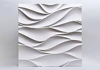 """Гіпсові панелі 3D """"Арабелла"""" Білий 500*500*25 мм"""