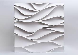 """Гипсовые 3D панели """"Арабелла"""" Белый 500*500*25 мм"""