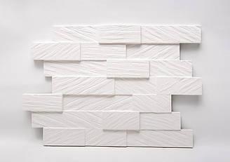 """Гипсовые 3D панели """"Board"""" Белый 500*600*25 мм"""