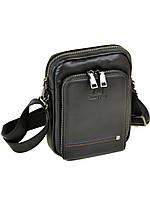 Практичная мужская сумка-планшет из натуральной кожи черная BRETTON (21*16*7 см), BE 2000-11 black