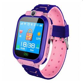 ХИТ Умные детские часы с камерой и фонариком Smart Watch S9 gps Розовый смарт