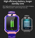 ХІТ Розумні дитячі годинники з камерою і ліхтариком Smart Watch S9 gps Рожевий смарт, фото 2