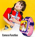 ХИТ Умные детские часы с камерой и фонариком Smart Watch S9 gps Розовый смарт, фото 3