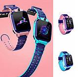 ХІТ Розумні дитячі годинники з камерою і ліхтариком Smart Watch S9 gps Рожевий смарт, фото 5