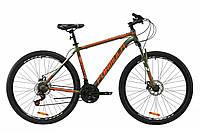 """Велосипед AL 29"""" Formula THOR 2.0 AM DD 2020 (хаки с красным и белым (м))"""