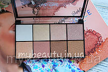 Хайлайтер-тіні для обличчя і повік LA ROSA Highlighter & Eyeshadow Pro Palette 8-ми кольорові