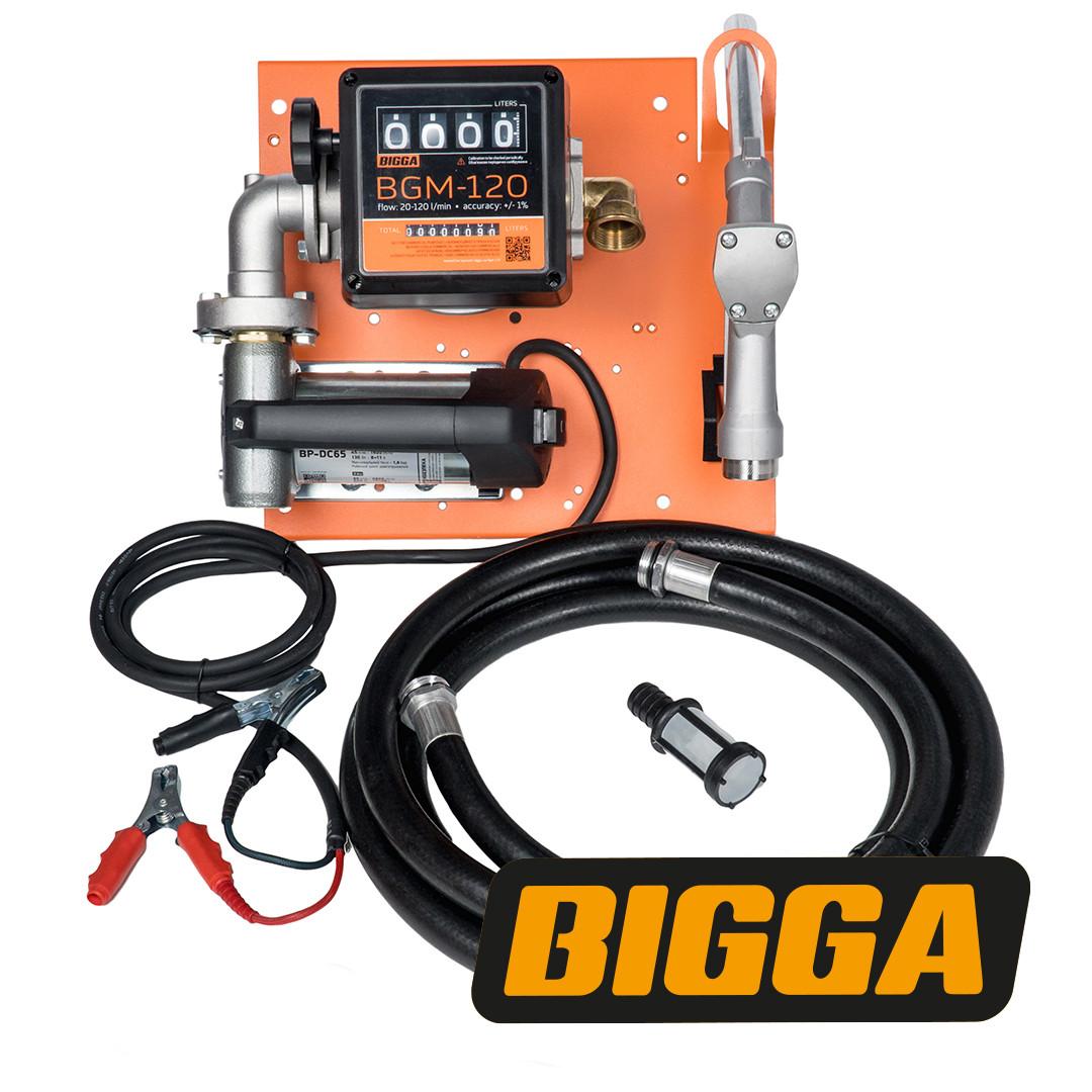 Bigga Beta DC-65 - Мобильная заправочная станция для дизельного топлива с расходомером, 12/24 В, 45/65 л/мин