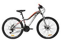 """Велосипед AL 26"""" Formula MYSTIQUE 1.0 AM DD 2020 (серебристо-оранжевый с белим)"""