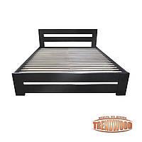 Кровать деревянная Тренд (ольха массив) от производителя. Кровати из дерева. Кровать для спальни из дерева.