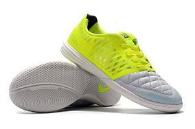 Футзалки Nike Lunar Gato II IC white/lightgreen