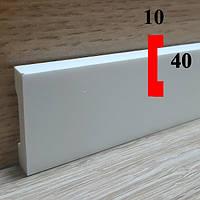 Плинтус напольный из полиуретана грунтованный под покраску 10х40, длина 2,44