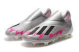 Бутсы Adidas X 19+ FG grey/pink, фото 3