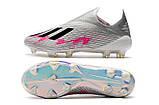 Бутсы Adidas X 19+ FG grey/pink, фото 7