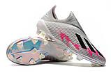 Бутсы Adidas X 19+ FG grey/pink, фото 8