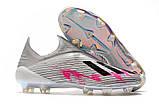 Бутсы Adidas X 19+ FG grey/pink, фото 2