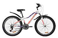 """Велосипед ST 26"""" Discovery KELLY AM Vbr с крылом Pl 2020 (бело-фиолетовый с оранжевым)"""